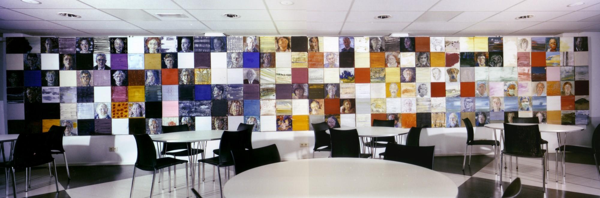 Portrettenproject, 1998-tot heden, olieverf,180 x 1500