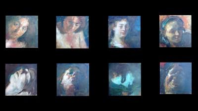 Saskia, de muze van Rembrandt, 2012, olieverf, 8x 25 x 25